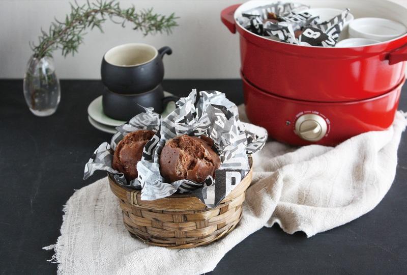 グリルポット レシピ チョコチーズ蒸しパン