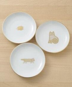 LISA LARSON(リサラーソン)豆皿(波佐見焼)金