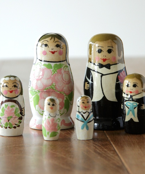 WEDDING MATRYOSHKA 3個組
