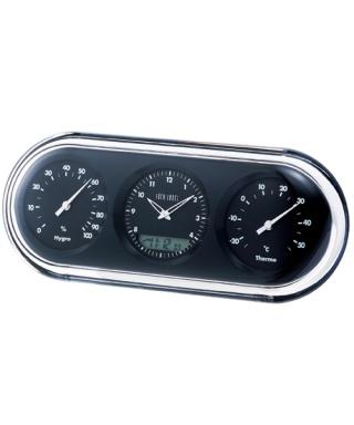 電波三連温湿時計